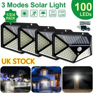 100-LED-Solar-Power-PIR-Motion-Sensor-Wall-Lights-Outdoor-Garden-Security-Lamps