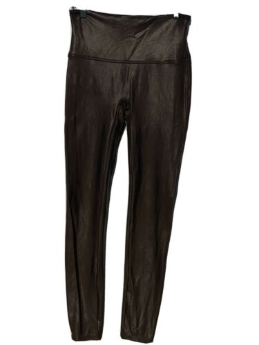 spanx faux leather leggings Large Brown Lightly Us