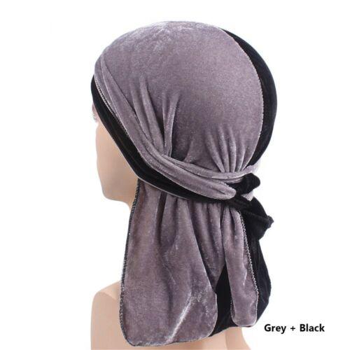 Fashion Velvet Durags Bandana Turban Hat Wigs Doo Durag Biker Headwear Headband