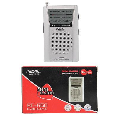 BC-R60 POCKET RADIO AM/FM 2band PORTABLE TRAVEL RADIO Pocket Size Receiver