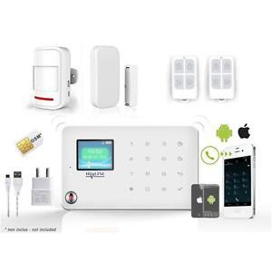kit alarme d tecteurs sans fil pour carte sim. Black Bedroom Furniture Sets. Home Design Ideas