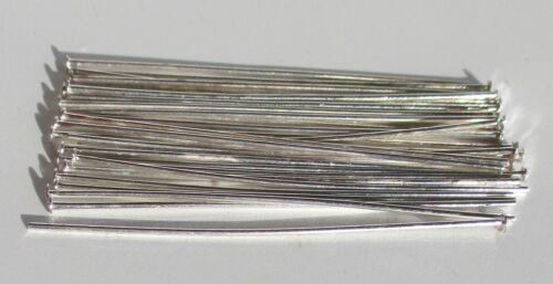 45 mm x 0,8 mm silberfarben Prismenstifte 200 Nietenstifte 2,3 mm Kopf