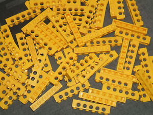 5 Hole Brick x 10 6 pin Lego Technic YELLOW Beams