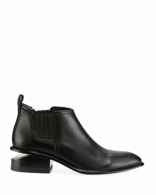 Offriamo vari marchi famosi Alexander Wang Kori Low-Heel Leather nero avvioies Dimensione 40    595  protezione post-vendita