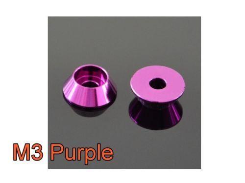 M4 Aluminum Cone Cup Taper Washer Hex X10 Black Blue Red Gold Purple #M2206 QL