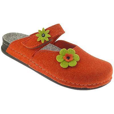 MANITU HOME Damen Hausschuhe Clogs Pantoffel 320367 Gr.36-42