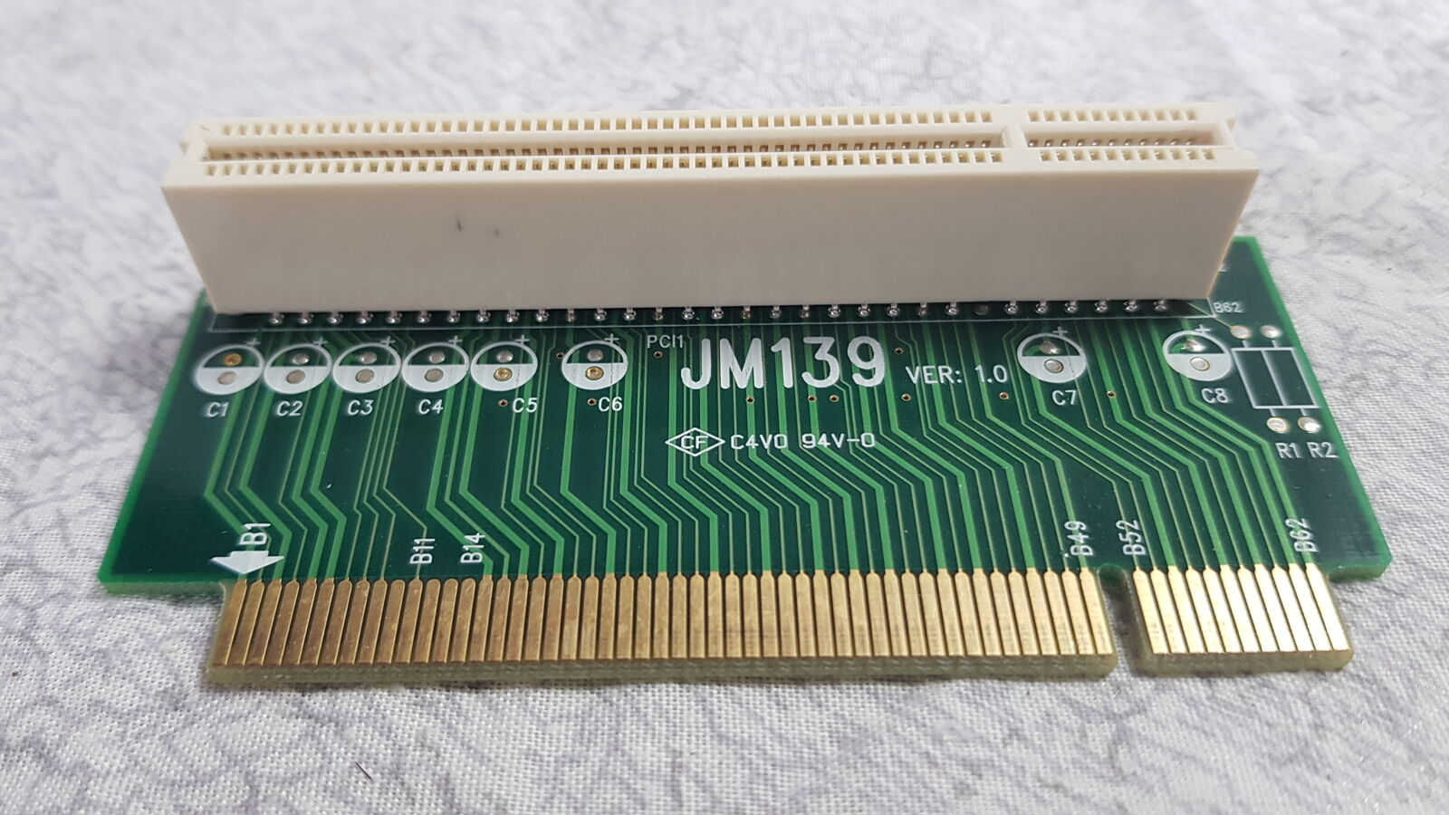 Morex JM139 Ver. 1.0, 90 Degree PCI Riser Card ONLY Grade A