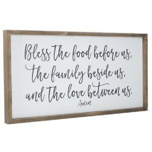 Large-Country-Rustic-Wood-Wall-Decor-Sign-034-Bless-the-food-before-us-034-Plaque