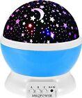 Children Birthday Gift Mkqpower Moon Star Lighting Lamp 4 LED Beads Rotating