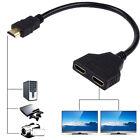 HDMI 1080P Port Stecker Zu 2 Buchse 1 In 2 Splitter Kabel Adapter Konverter