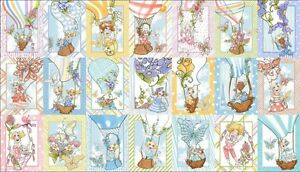 24-034-Fabric-Panel-Quilting-Treasures-Loralie-Up-and-Away-Hot-Air-Balloon-Block