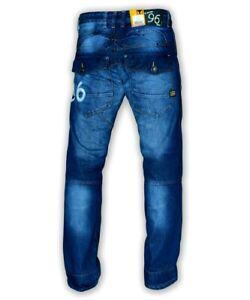 Détails sur Homme Gstar G STAR RAW 96 Heritage Embro Loose Fit Tapered Jeans Bleu Stone Wash afficher le titre d'origine