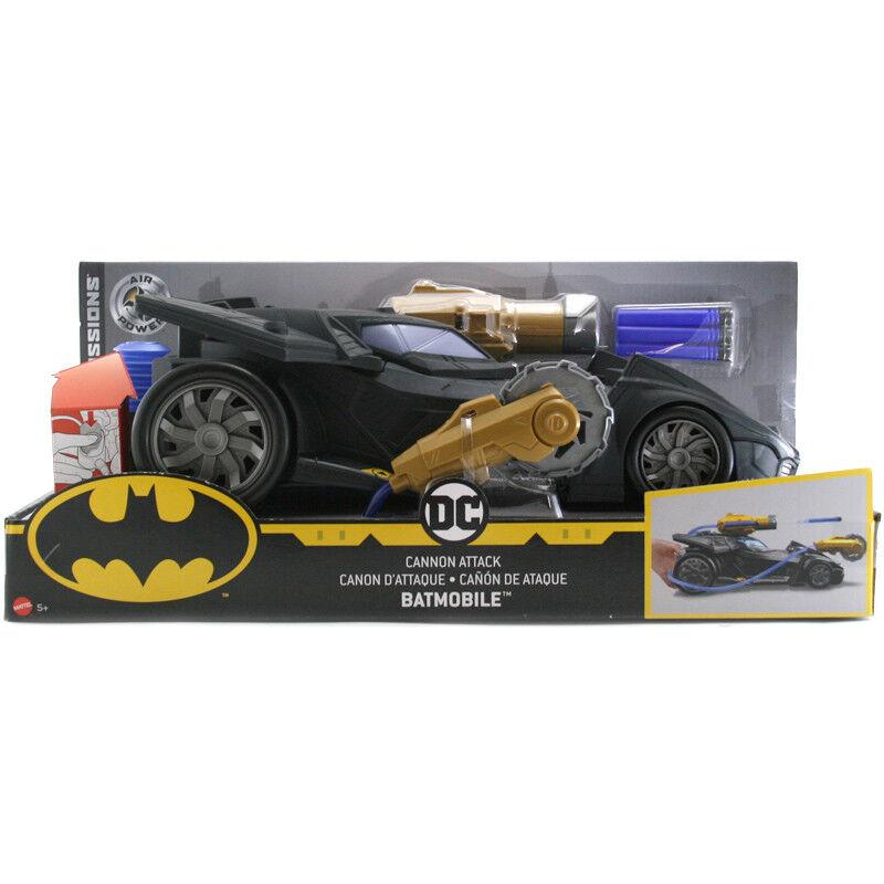 DC COMICS BATMAN missioni Cannon ATTACCO BATMOBILE veicolo giocattolo nuova