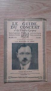 El-Guia-de-La-Concierto-Y-Las-Teatro-Letra-Georges-de-Lausnay-N-30-1928