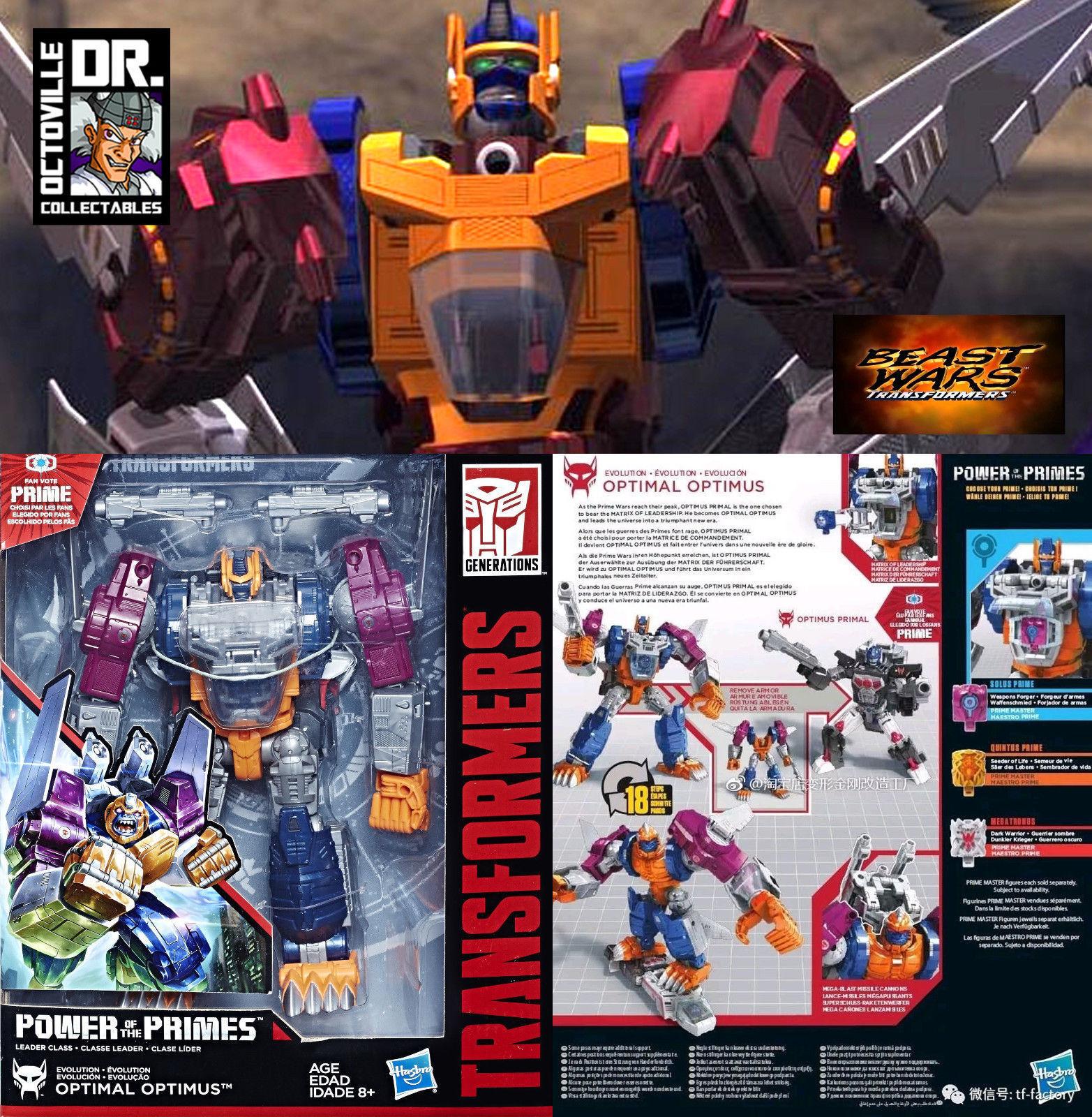 Auténtico de Transformers Beast Wars poder del modelo PRIMES líder Optimus Prime Nuevo