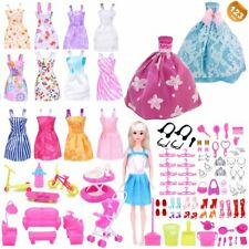 New 10Pcs  Doll Clothes Accessories Huge Lot Party Gown Outfits Girl GiftH