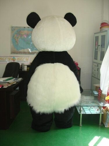 Details about  /Adult Outfits Chic Long Hair Panda Bear Animal Mascot Costumes Cosplay Party