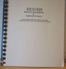 Eico 625 Instruction Manual Tube Setup Data Amp Schematic