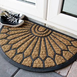 Half Moon Door Mat | Natural Rubber & Coir Mat | Non Slip Indoor\Outdoor Doormat