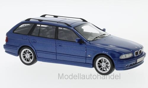 BMW 520 TOURING (e39), Metallico-azul, 2002 NEO 1 43 49555  NEW