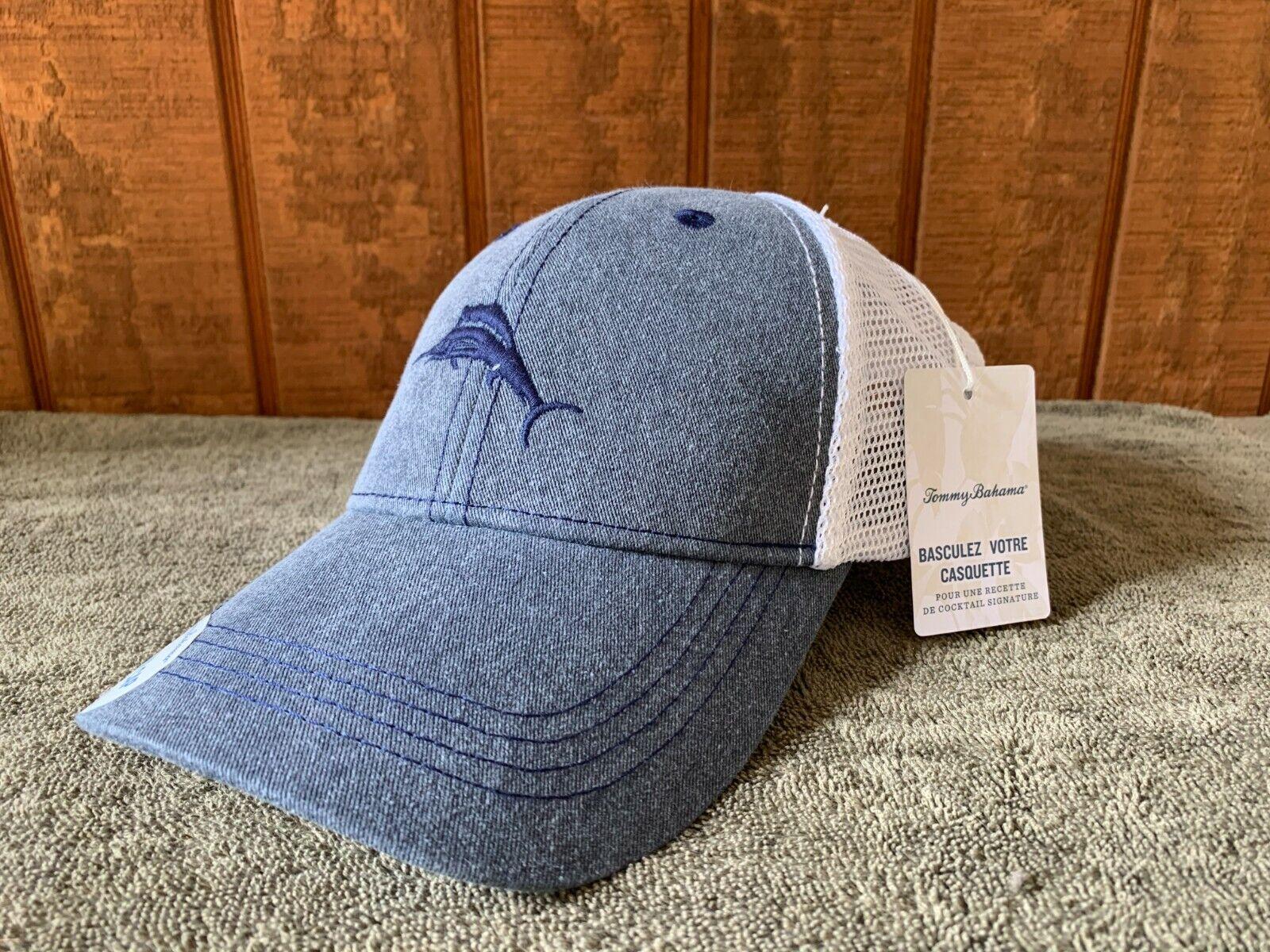 Herren Tommy Bahama Grau Baseball Trucker Mütze/Hut (Spitze Mein Mütze)