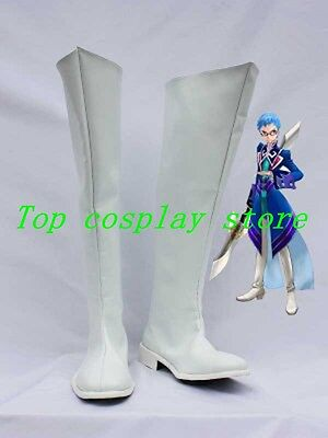 White Tales of Graces Hubert Oswell Cosplay Boots shoes long white Ver #TG004
