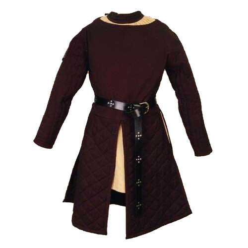 X-Mas Gift Thick Padded Brown Gambeson Coat Aketon Medieval COSTUMES DRESS SCA
