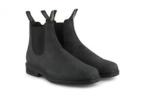 Blundstone 1308 Rustic Black Leather Unisex Chelsea Dress Ankle Boot