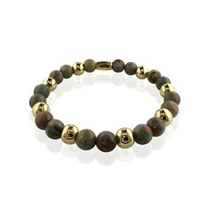 Spiritual-Beaded-Bracelet-8-034-Stretch-Healing-Natural-African-Opal-Gemstone-Ball