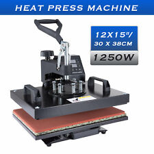 Diy Heat Press Machine 360 Swing Away Digital Sublimation T Shirt Pad 12x15