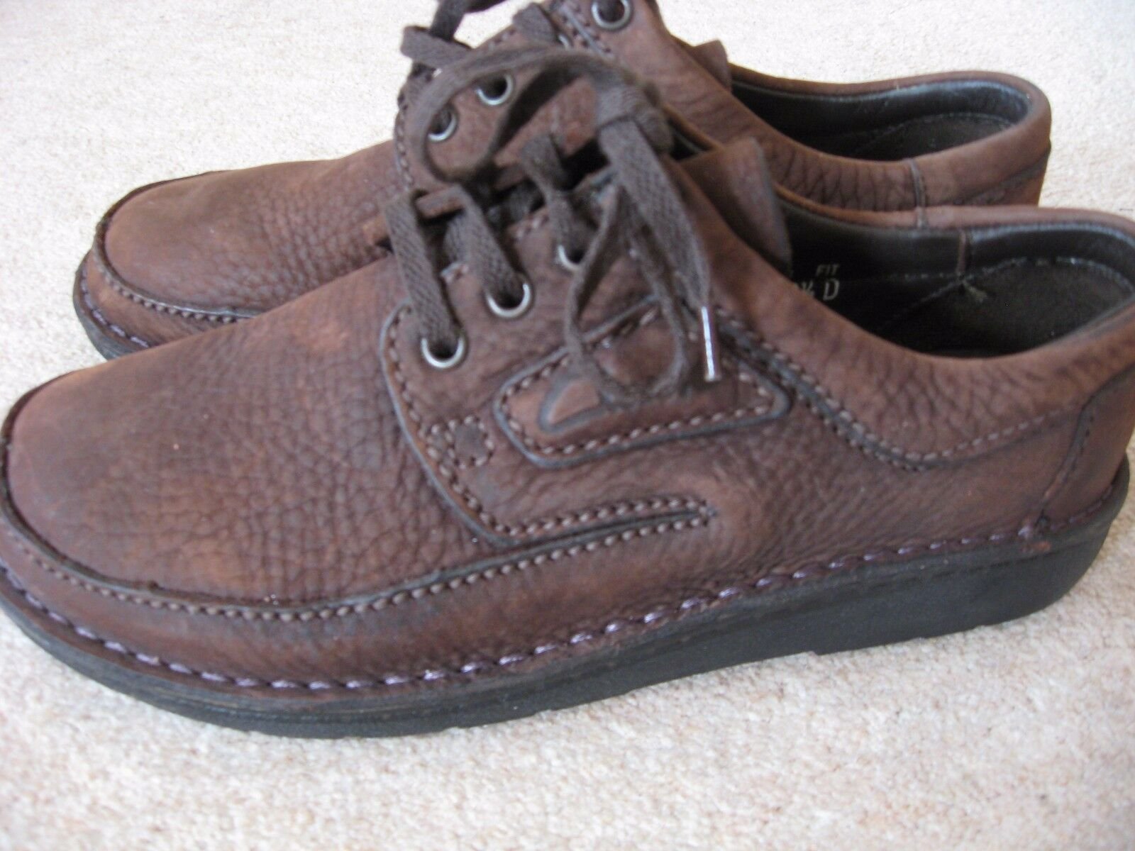 NEW WOMEN'S CLARK'S LEATHER NUBUCK SUEDE PASTY SHOES CHOC 5D BROWN LACE UPS UK 5D CHOC 0936b9