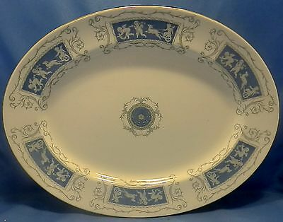 "Coalport white bone china Revelry 15"" meat serving platter gold color highlights"