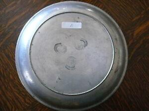 rarität ca. 200 Jahre alter  Zinn Teller Suppenteller sog. Katzenteller 1