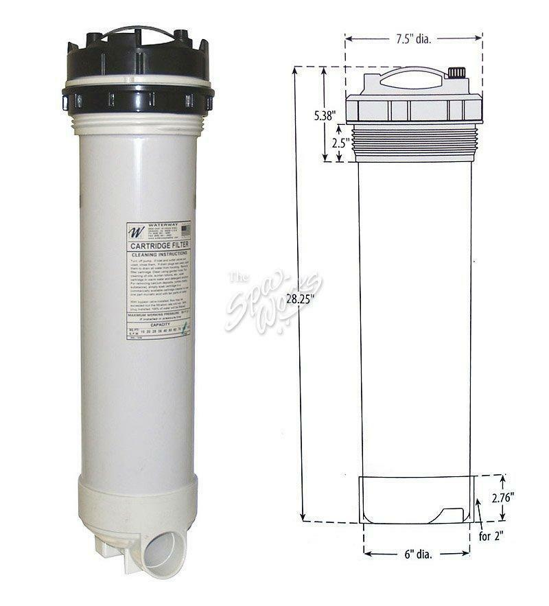 Cal Spa 100 Sq Ft Top Load Cartridge Filter CALFIL11000190