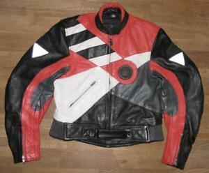 034-HEIN-GERICKE-034-Damen-Motorrad-Kombi-Lederjacke-Biker-Jacke-in-Gr-40