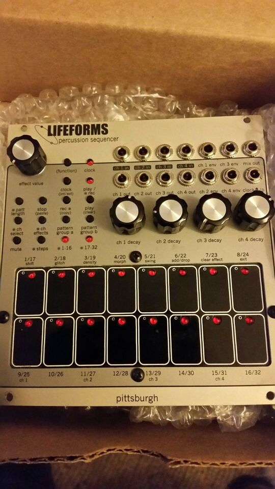 Lifeforms Percussion sequencer, Pittsburgh Lifeforms