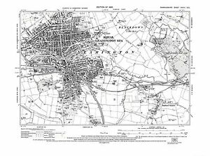 Old Map of Leamington Spa Radford Semele Warwickshire 1926