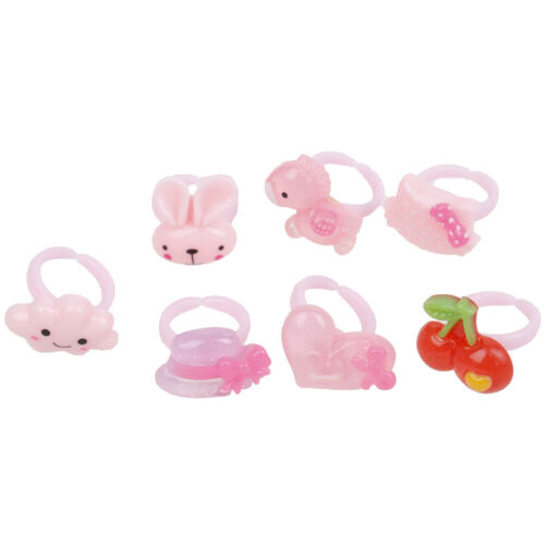 20Pcs Assorted resin rings with box kids girl jewelry presentZY
