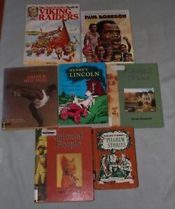 Lot-of-7-Living-books-for-younger-children-Crowell-Bography-Pilgrim-Stories