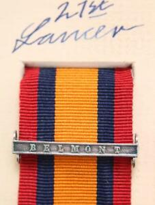 Details about QSA QUEENS SOUTH AFRICA MEDAL RIBBON BAR CLASP BELMONT BOER  WAR CAMPAIGN