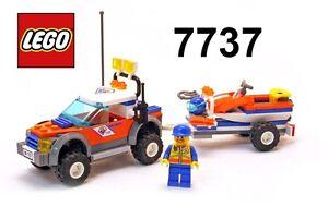Gioco-Game-Set-LEGO-7737-COAST-GUARD-amp-JET-SCOOTER-Guardia-Costiera-Moto-Acqua