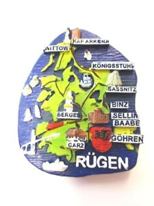 Rügen Binz Kap Arkona Magnet Poly Roll 6cm, Souvenir Germany New