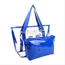 Clear Tote Bag Bags Handbag Crystal PVC Women Shoulder 2In 1 Transparent Beach