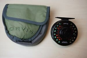 Orvis-Battenkill-Mid-Arbor-III-Fly-Reel-With-Line-and-Case