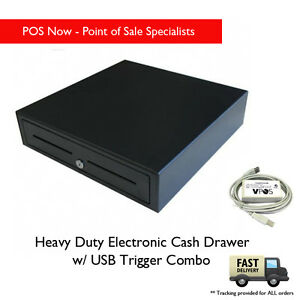 *NEW* VPOS Heavy Duty Electronic Cash Drawer w/ USB Trigger