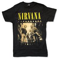 Nirvana film Sepia Band Photo Black T-shirt Official Adult