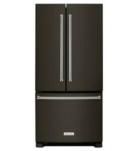 KitchenAid Black Stainless 22 cu. Ft. 33-Inch Width French Door Refrigerator KRFF302EBS Toronto (GTA) Preview