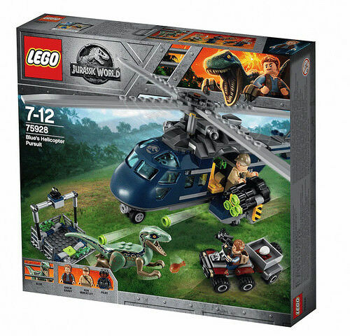 LEGO 75928 JURASSIC WORLD blu's Helicopter Pursuit MAG 2018