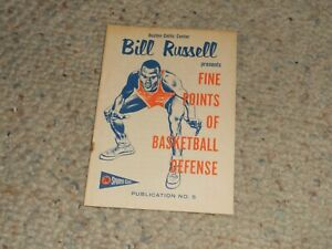 1957-Union-Oil-76-Sports-Club-Booklet-5-BILL-RUSSELL-BASKETBALL-Gas-Nice