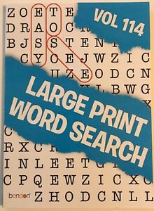 picture about Large Printable Word Search known as Info relating to Major PRINT Phrase Look Puzzle E-book Term Locate Total 114